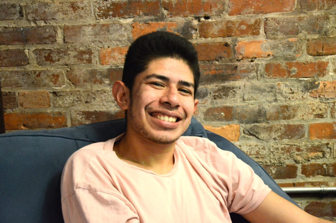 """Clif bars. White chocolate macadamia, that's my favorite."" — Edwin Arriaga, 21"